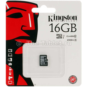 Карта памяти micro SDHC 16Gb Class10 - Kingston