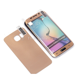 Декоративная пленка 3D 2 в 1 для Samsung Galaxy S6 edge 0.3 mm, 009467 Золотой