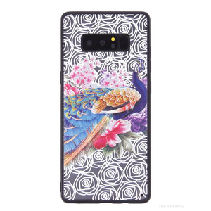 Чехол ТПУ Павлин для Samsung Galaxy Note 8, 010162