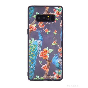Чехол ТПУ Павлин для Samsung Galaxy Note 8, 010163