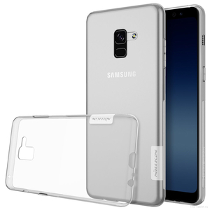 Накладка для Galaxy A8 Plus (2018) Nillkin TPU белый