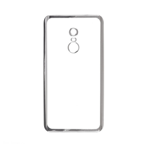Накладка для Xiaomi Redmi 5 Plus skinBOX Silicone chrome border серебристый